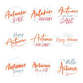 Autumn Sale Sign Typography Type Font Text