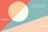 pink abstract background geometric for presentation, banner, poster or flyer artwork background design