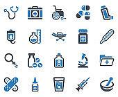 Medical Equipment Icon Set - 1 (Blue Series)
