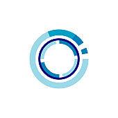 Circle Technology Icon Design Vector