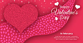 Red greeting Happy Valentines Day Background