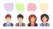 People icon in flat style
