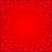 Red greeting Background with hearts