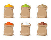 Indian Spice Powder in Sack.
