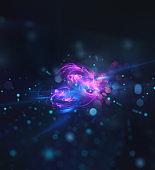 Abstract internet connection network background with motion effects
