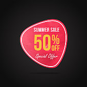 Summer sale banner template, Promo banner for your seasonal design.