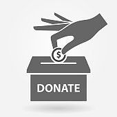 Charity icon concept