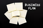 Business Plan With Sticky Note