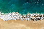 Drone View of Turquoise Tropical Beach