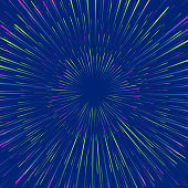 Neon speed explosion in space vector background