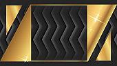 Gold Square Frame or Black Luxury Rectangular Border