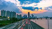 Traffic at Seoul City South Korea