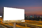 Blank billboard for outdoor advertising