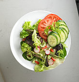 Plate of a healthy salad