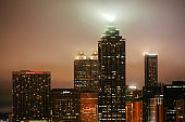 Foggy night in Atlanta, Georgia.