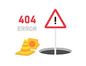 Page with a 404 error in the 3D style on white background. Template reports that the page is not found. Vector illustration.