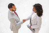 Business partners closing deal