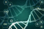 Creative medical DNA wallpaper