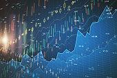 Abstract forex chart wallpaper