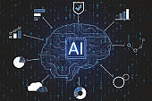 Artificial intelligence and software concept