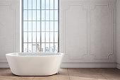 Modern bathroom with copyspace