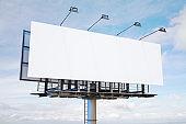 Empty white banner