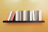 Bookshelf close up