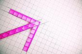 Creative pink arrow backdrop