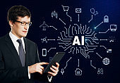 Artificial intelligence and future concept