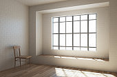 Empty interior with window