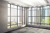 Bright interior with NY view
