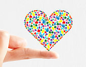 Hand gesture heart