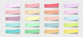 Post note stickers with shadow. Color sticky memos