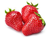 Fresh berry strawberry with green leaf. Fruity