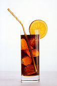 glass of iced drink