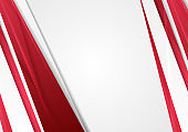 Red and grey glossy stripes abstract corporate background