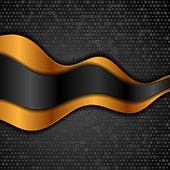 Corporate abstract background with golden waves