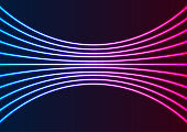 Blue purple neon laser lines tech abstract background
