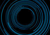 Dark blue circular lines abstract futuristic technology background