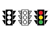 Traffic light icon. Vector illustration