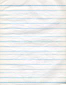 Lined Paper Notebook Page