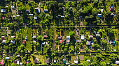 Tiny Plot Gardens, Ecology in big City, Aerial View