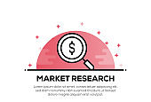 MARKET RESEARCH ICON CONCEPT