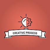 CREATIVE PROCESS LINE ICON SET