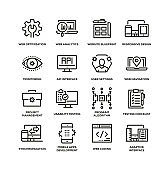 WEB DESIGN LINE ICON SET