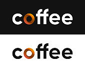 Coffee label vector, Lettering for Coffee Market
