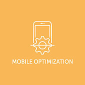 MOBILE OPTIMIZATION ICON CONCEPT