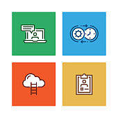 CORPORATE BUSINESS LINE ICON SET