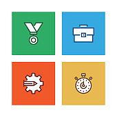 PROJECT PLANNING LINE ICON SET