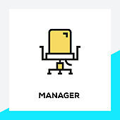 MANAGER LINE ICON SET